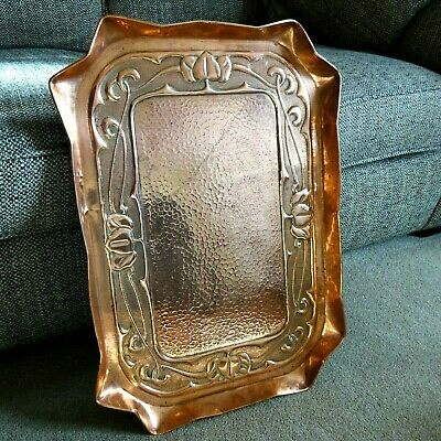 Arts and Crafts copper tray