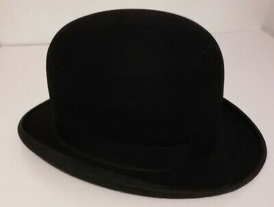 Vintage Bowler Hat - Black 6 7/8 - Woodrow Piccadilly - By Appt to HM King