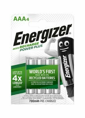 Energizer Recharge Power Plus 700mAh Pre-Charged AAA NiMH Batteries - 4 Count