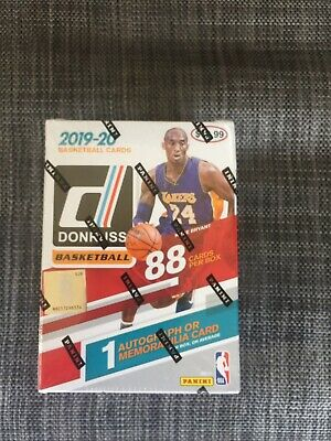 2019/20 Panini Donruss Basketball EXCLUSIVE  Factory Sealed Blaster Box-AUTO/MEM
