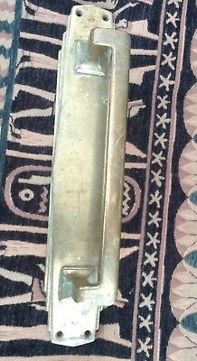 Large heavy brass Art Deco Door handle