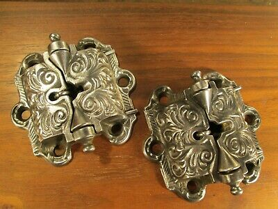 One  Pair  Ornate  Antique Springe  Loaded  Screen  Door  Hinges