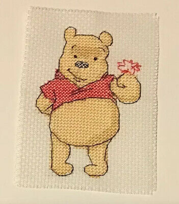 Winnie The Pooh Completed Cross Stitch Embroidery, For Framing, Card Making
