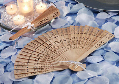 Chinese Wooden Fan Wedding Hand Fragrant Party Carved Folding Fan