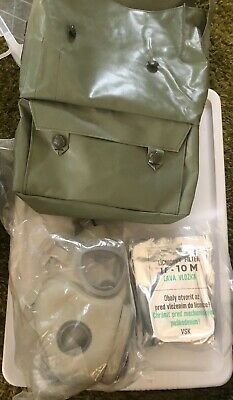 Military Czech Gas Mask M10 New Filters & Lens Emergency Survival NBC Full Face
