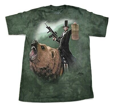 Lincoln The Emancipator The Mountain 100/% Cotton Adult T-Shirt NWT