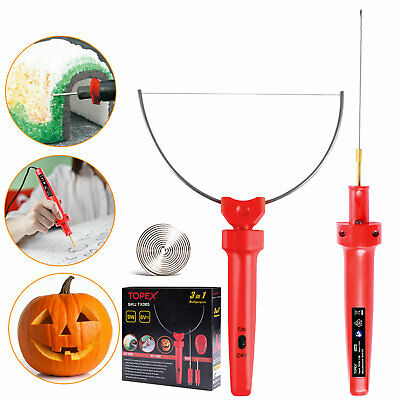 TOPEX 3-in-1 Hot Wire Foam Cutter Styrofoam Polystyrene Cutting Tool Set