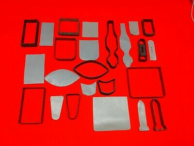 Leather Tools - Lot Of  12  CLICKER DIES For Making Pockets, Flaps, Closures...
