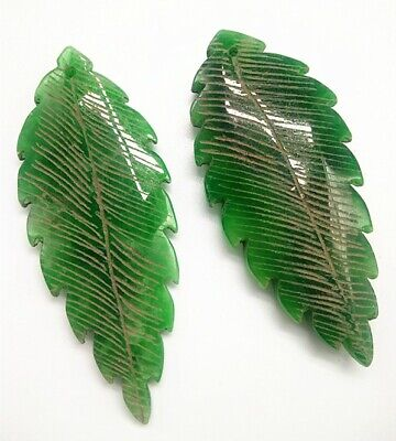 Rare Chinese Ice Green Jadeite Jade Handwork Collectible Leaf Amulet Pendant A