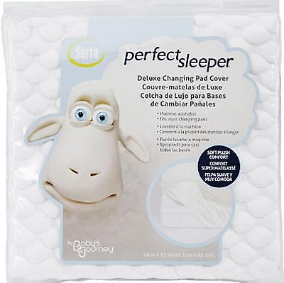 SERTA Perfect Sleeper DELUXE CHANGING PAD COVER Ivory PLUSH ~ New in Package
