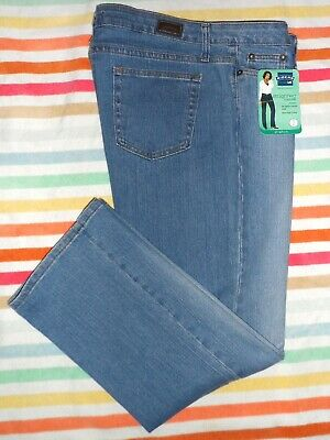 Nwt Riders By Lee Mid-Rise Stretch Straight Leg Jeans Womens 16P~~Light Blue