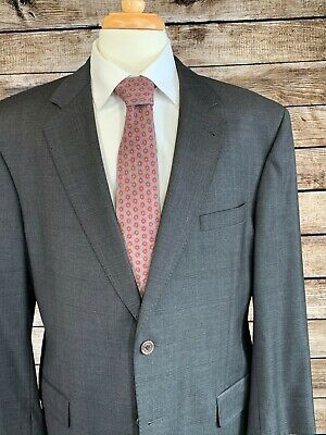 Jos A Bank Signature Gold Suit Gray 43R (36x30) Wool Gordon