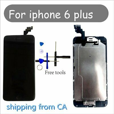 Black iPhone 6 Plus LCD Replacement Screen Digitizer with homebutton+camera