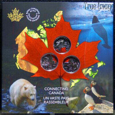 2020 - Connecting Canada - Special Edition 25-cent 3-Coin Set