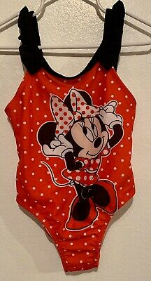 Disney MINNIE MOUSE Red POLKA DOT 1 Pc SwimSuit Girls 2T