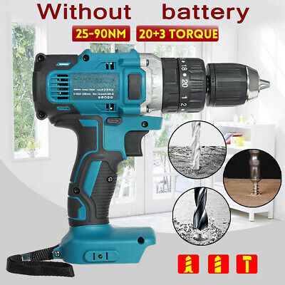 18V 25-90Nm Impact Driver Cordless Drill Hammer Screwdriver For Makita Battery