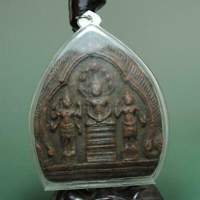 Old Collect Thailand Ayutthaya Maitreya Buddha Incense Ash Card Statue /09 C01