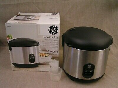 GE 20-Cup Countertop Electric Rice Cooker # 169111 Arrocera - Mint w/Box
