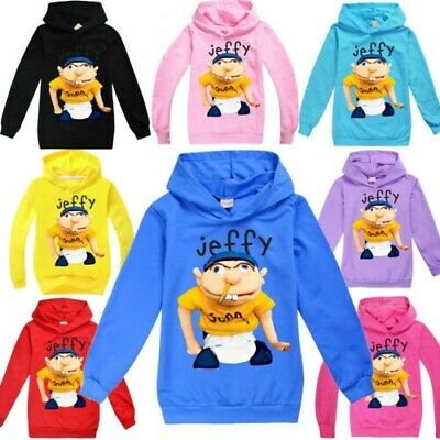 Jeffy Puppet Hoodies Kids Youtuber Children Casual Hooded Jumpers Tops 3-12Years