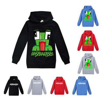 UNSPEAKABLE Hoodies Kids Children Long Sleeve Hooded Jumper Tops Cotton Pullover