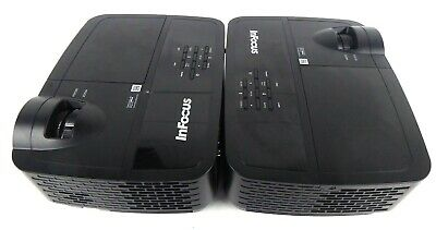 2 x InFocus DLP Projectors 1080 Resolution VGA HDMI >3000 Hours Used