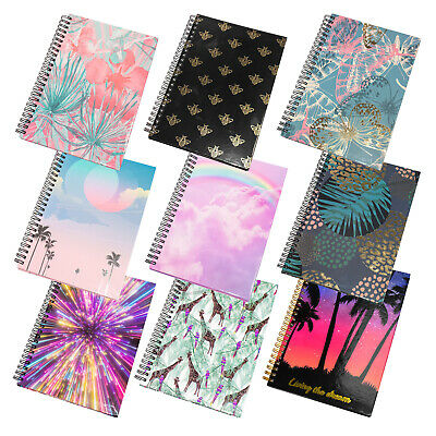 Spiral A5 Journal Hardback Lined Paper Notebook with Design Pattern Writing Book