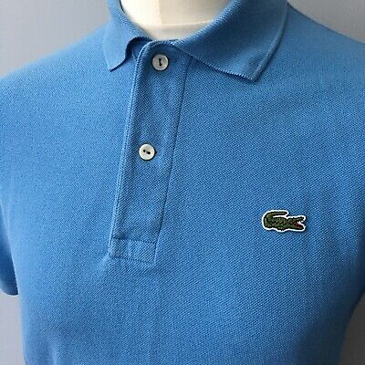LACOSTE Devanlay Mens Polo Shirt Blue Short Sleeve Top Casual Size 3 SMALL