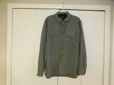 PENDLETON Oliver 100% Virgin Wool Thomas Kay Button Down Shirt XL Gray Plaid
