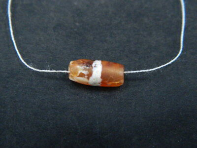 Ancient Etch Carnelian Bead Roman 200 BC #BE5276