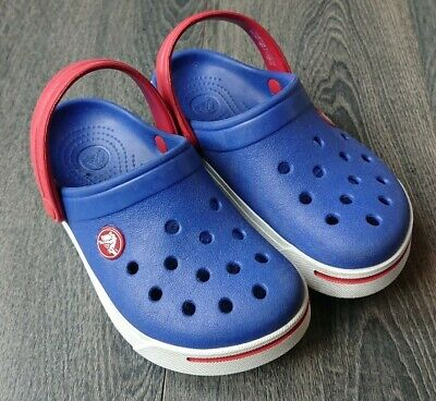 Boys Blue Genuine Crocs Size 10 11 *only worn once*