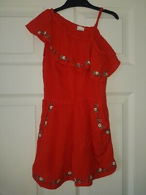 girls next red playsuit age 7