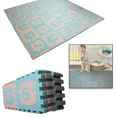 Kids Play Mats Large Alphabets/Numbers Soft Eva Foam Puzzles 36pcs for Childrens