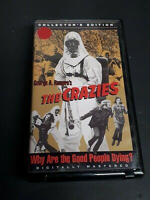 The Crazies 1998 VHS Collectors Edition George A. Romero Lane Carroll OOP