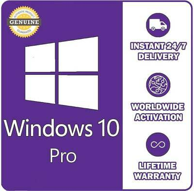 Microsoft Windows 10 PRO Activation Product Key🔑 For 1 PC [INSTANT DELIVERY]