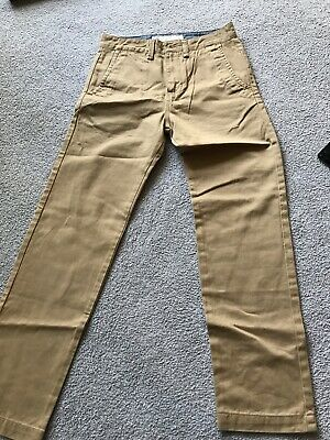 Brand New Boys Vans Tan Chino Trousers Size 26/12 years