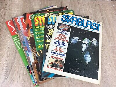 Vintage Marvel Starburst Magazine Bundle JobLot 1980's SciFi TV Film Comics
