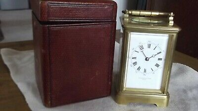 French Repeater  Brass Carriage Clock  by Drocourt Inc Original Box and Key