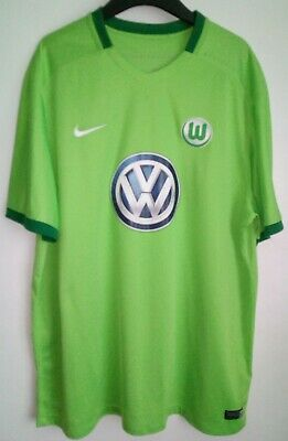 100/% Authentic Nike Men/'s VFL Wolfsburg Away Shirt 2016-2017 644634-100