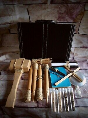 Unique Handmade 32pc Vampire Killing Hunting Kit Stake Holy Water Briefcase (2)