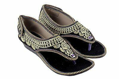 Women Shoes Indian Handmade Leather Ballerinas Ethnic Mojari UK 3.5-7 EU 36-41