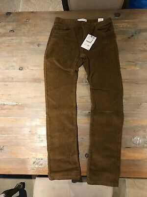 Zara Boys Cord Effect Trousers With Cotton Light Camel Age 13/14 BNWT