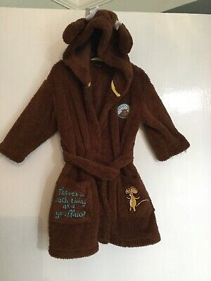 Boys Age 2-3 Long Sleeve Brown Gruffalo Dressing Gown By M&S