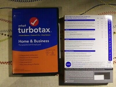 Intuit Turbotax 2019 Home & Business, Personal & Self Employed  Fed. Preowned