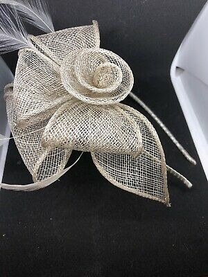 Champagne Colour Headband Facinator Special Occasion Wedding Christening Races