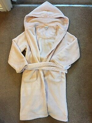 BLUE ZOO Girls Baby Pink Dressing Gown Robe Age 9-10 Years VGC