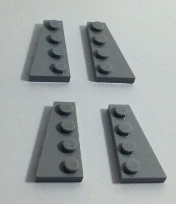 6 x LEGO 41769 Plaque Aile noir, black Wedge Plate 2x4 Right Wing NEUF NEW