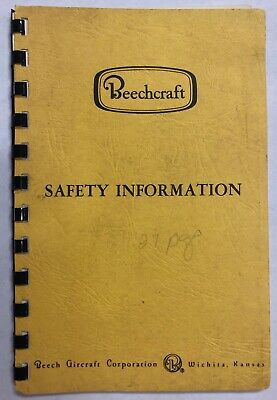 Beechcraft Safety Information 1975 - Original