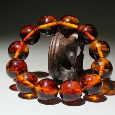 Collectable China Handwork Amber Carve Noble Delicate Beautiful Hand Catenary
