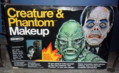 Vintage 1980's Remco Universal Monsters Make-up Kit - Phantom & Cretaure  VHTF