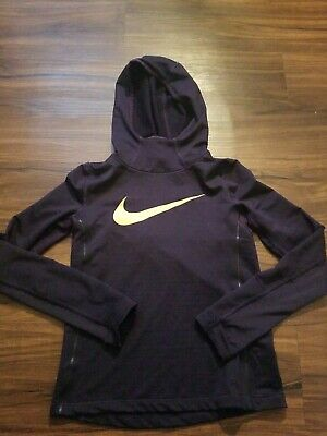 Nike Dri Fit Running Hoodie Girls Youth Medium Purple